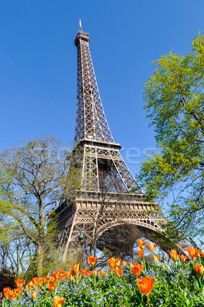 Eyfel Kulesi Paris Fransa bahar Bina şehir Stok fotoğraf © dutourdumonde