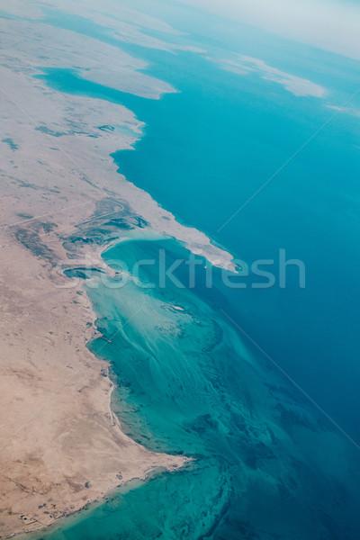 Aerial view of a coastal region in Qatar Stock photo © dutourdumonde