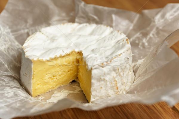 Camembert on a wooden board Stock photo © dutourdumonde