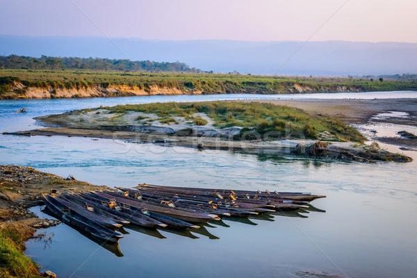 Непал реке природы лодка джунгли пусто Сток-фото © dutourdumonde