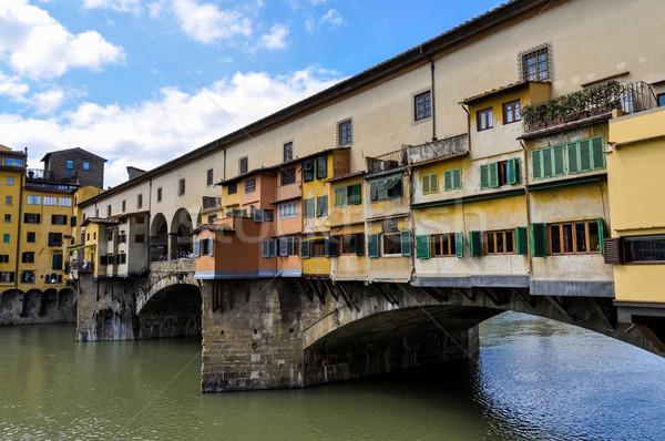 Floransa İtalya gökyüzü su şehir köprü Stok fotoğraf © dutourdumonde