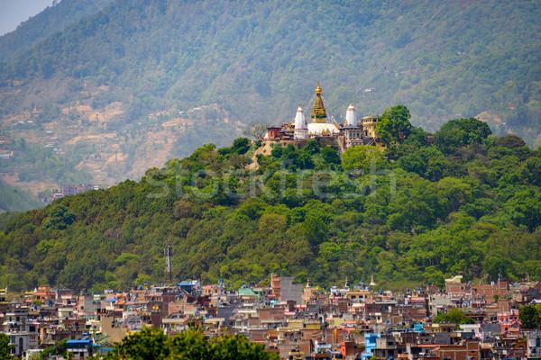Nepal görmek kare Bina dağ seyahat Stok fotoğraf © dutourdumonde