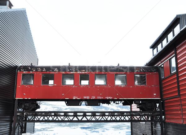 ワゴン 歩道橋 夏 輸送 奇妙な 廊下 ストックフォト © dutourdumonde