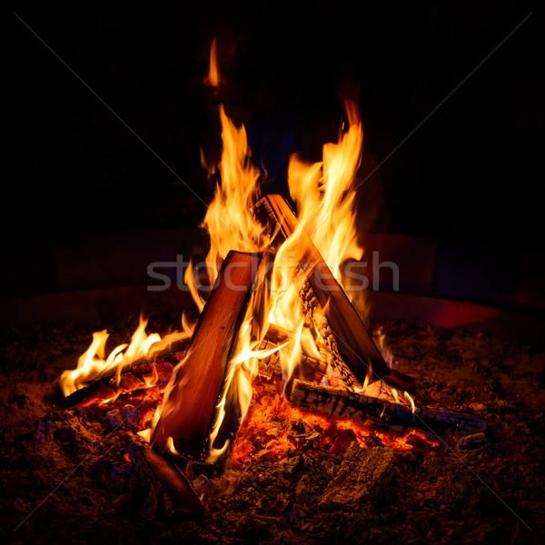 Camp fire Stock photo © dutourdumonde