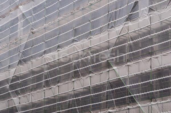строительные леса здании строительство стены дизайна промышленных Сток-фото © dutourdumonde