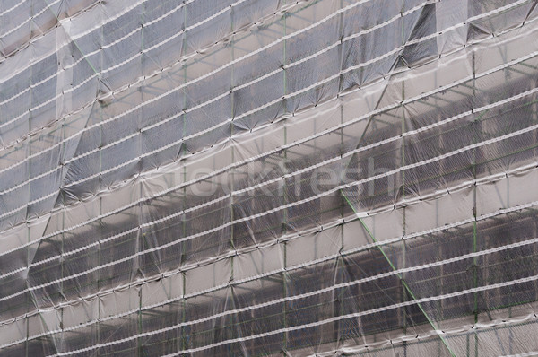 Andamio edificio construcción pared diseno industrial Foto stock © dutourdumonde