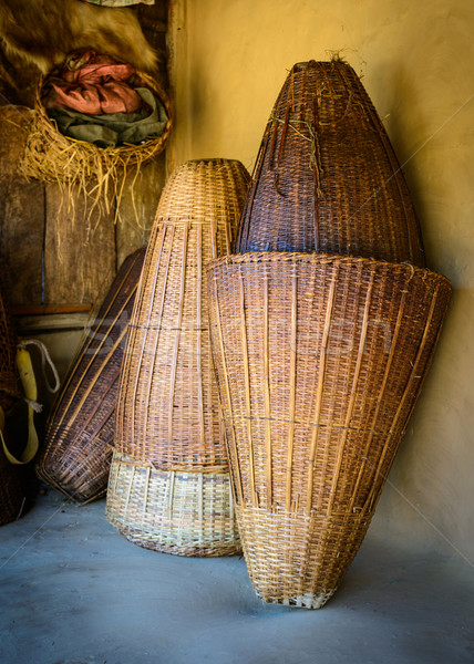 Wicker baskets Stock photo © dutourdumonde
