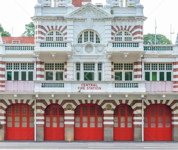 Centrale fuoco stazione Singapore rosso bianco Foto d'archivio © dutourdumonde