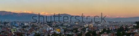 Città himalaya panorama panoramica view casa Foto d'archivio © dutourdumonde