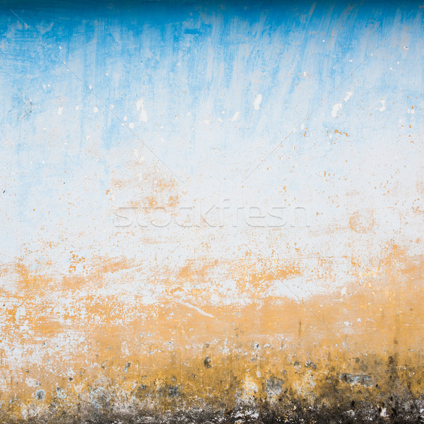 Dilapidated beige and blue wall texture Stock photo © dutourdumonde