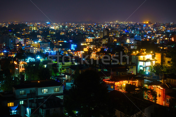 Patan and Kathmandu illuminated for Tihar Stock photo © dutourdumonde