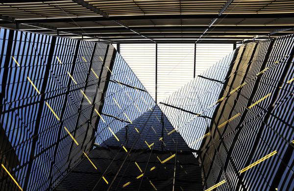 Modern bina detay Metal yapı duvar soyut Stok fotoğraf © dutourdumonde
