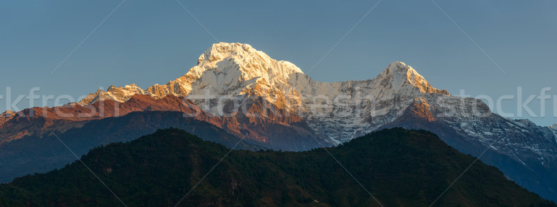Annapurnas at sunrise panoramic view, Nepal Stock photo © dutourdumonde
