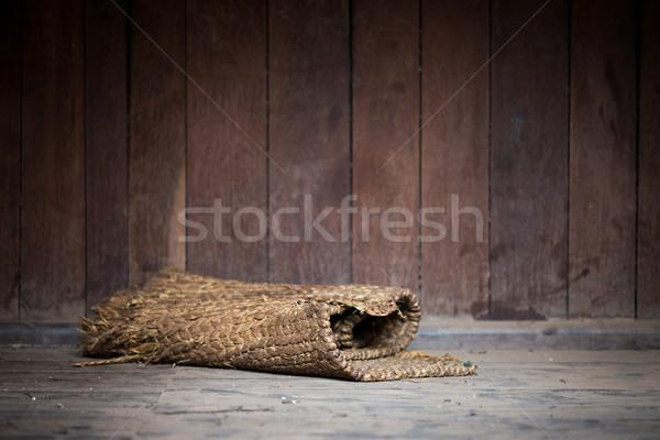 Tekert öreg padló fából készült fal belső Stock fotó © dutourdumonde