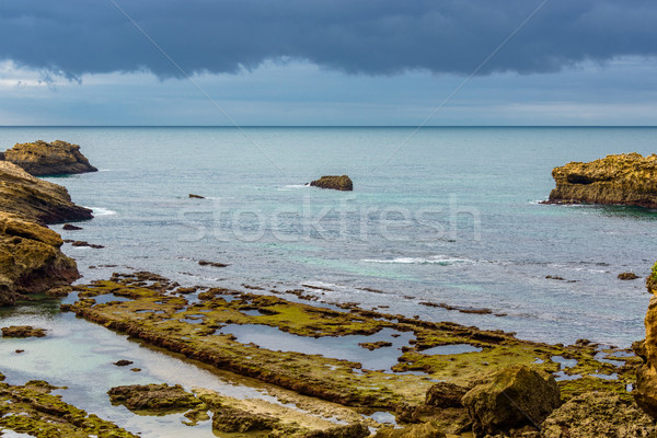 Stormy weather over a coastal landscape Stock photo © dutourdumonde