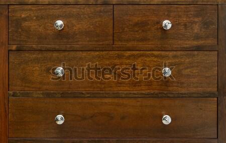 Poitrine tiroirs contemporain bois texture Photo stock © dutourdumonde