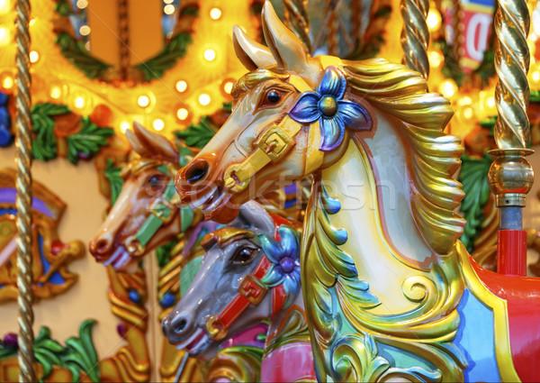 馬 ヴィンテージ 木製 木材 塗料 背景 ストックフォト © dutourdumonde