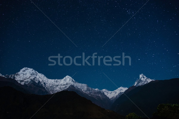 The Annapurna range at night Stock photo © dutourdumonde