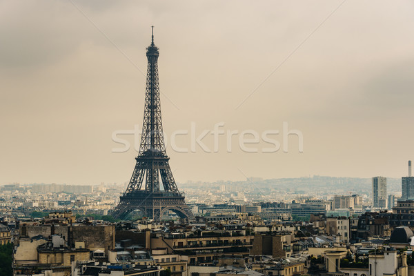 Torre Eiffel Parigi Francia città panorama viaggio Foto d'archivio © dutourdumonde