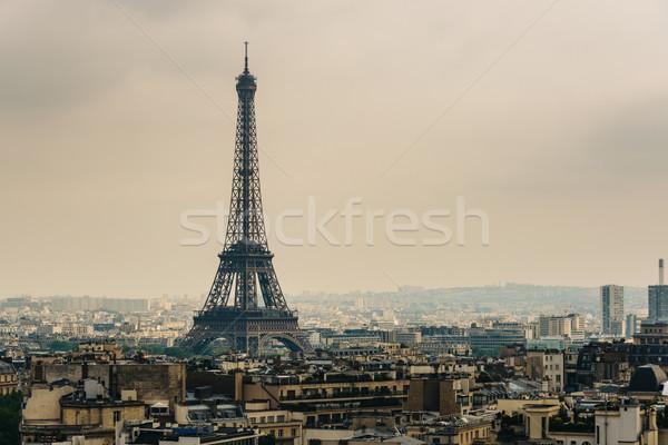Eyfel Kulesi Paris Fransa şehir manzara seyahat Stok fotoğraf © dutourdumonde