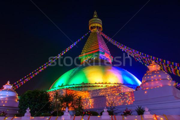 Boudhanath stupa in Kathmandu, Nepal Stock photo © dutourdumonde