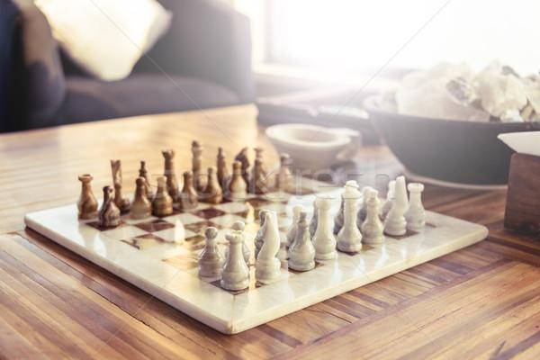 Chess game Stock photo © dutourdumonde
