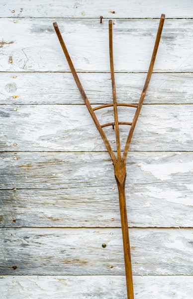 Wooden pitchfork on a wall Stock photo © dutourdumonde
