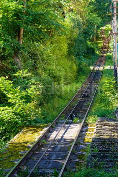 San Sebastian funicular track Stock photo © dutourdumonde