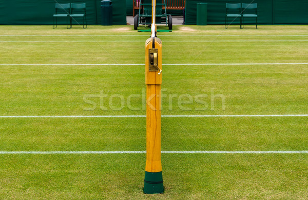 Gazon tennisbaan detail hout sport zomer Stockfoto © dutourdumonde