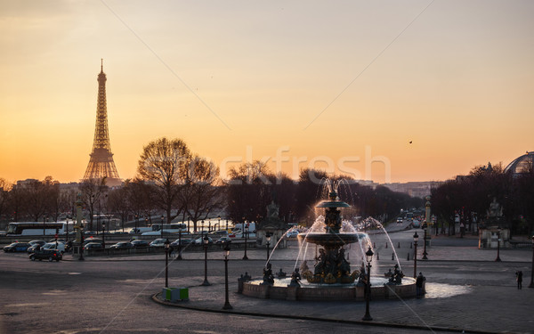 Concorde Square in Paris, France Stock photo © dutourdumonde