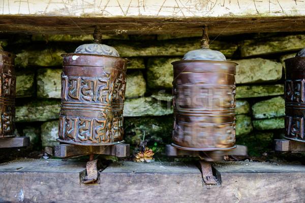 Preghiera ruote Nepal uno metal viaggio Foto d'archivio © dutourdumonde
