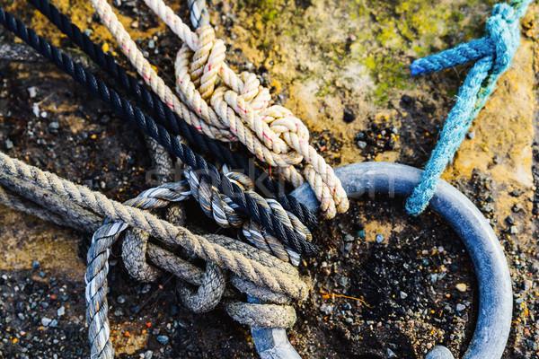 Corde allegata anello porto metal Foto d'archivio © dutourdumonde