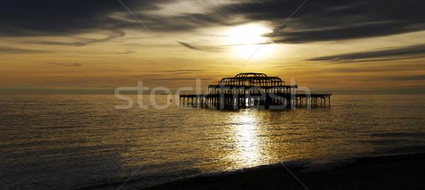 Ocidente pier panorâmico ver água sol Foto stock © dutourdumonde