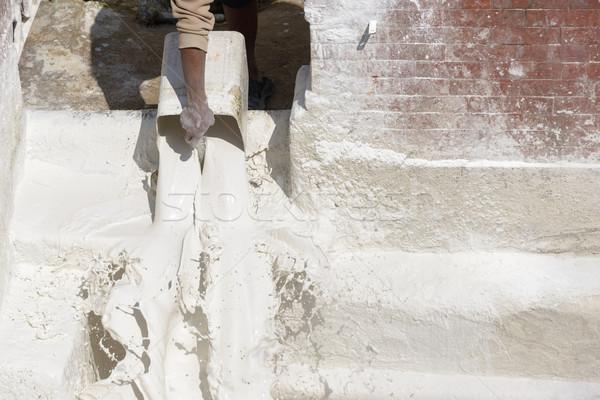 Man pouring whitewash Stock photo © dutourdumonde