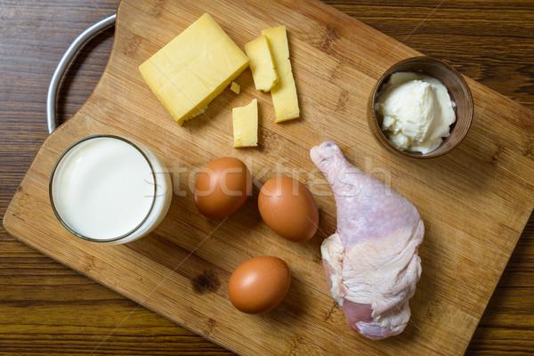 Eiwit rijke ingrediënten voedsel tabel Stockfoto © dutourdumonde