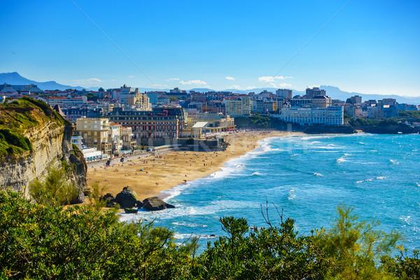 Франция пляж лет морем деревья кадр Сток-фото © dutourdumonde