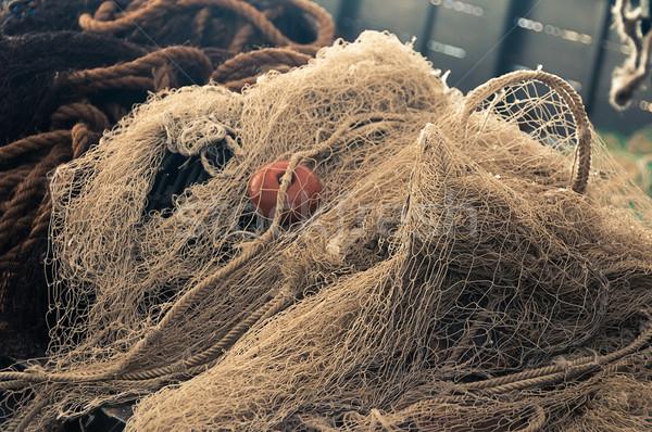 漁網 ロープ 漁師 ボート テクスチャ 木材 ストックフォト © dutourdumonde