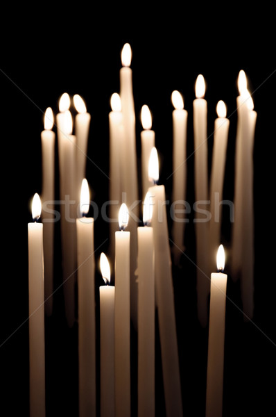 Candles burning in a church Stock photo © dutourdumonde