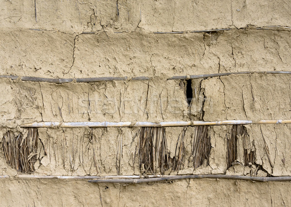 Mud, bamboo and straw wall texture Stock photo © dutourdumonde