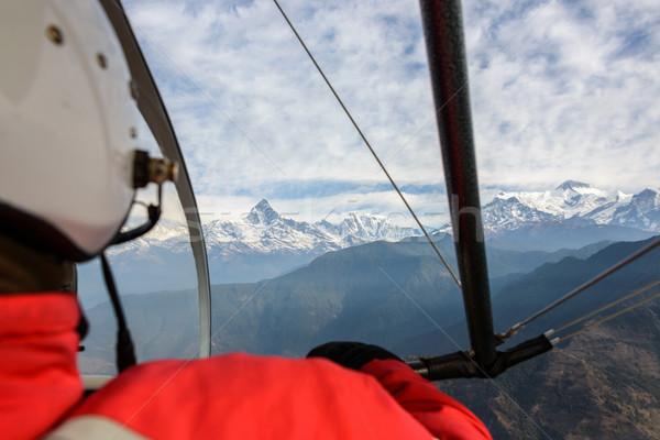 Flying Непал экспериментального облака спорт природы Сток-фото © dutourdumonde