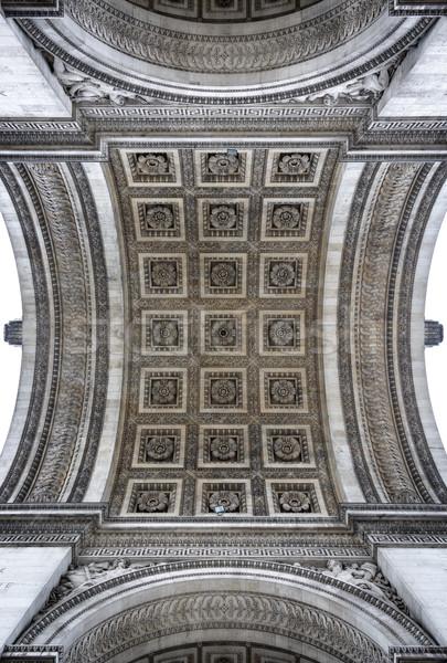 Триумфальная арка подробность арки Париж Франция текстуры Сток-фото © dutourdumonde