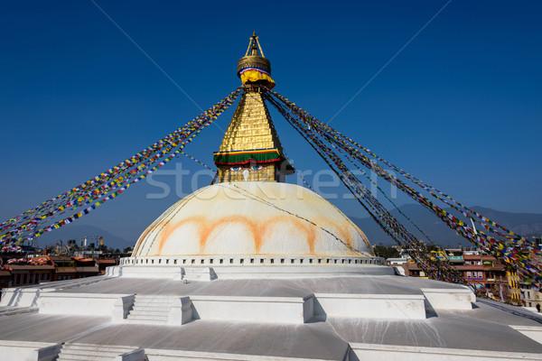 Boudhanath stupa in Kathmandu Stock photo © dutourdumonde