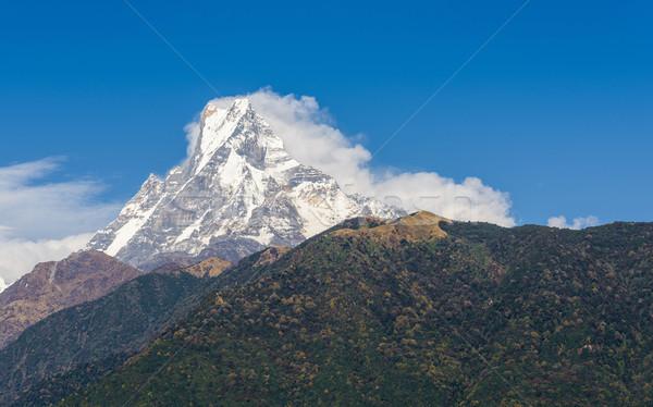 Nepal bölge doğa manzara kar çevre Stok fotoğraf © dutourdumonde