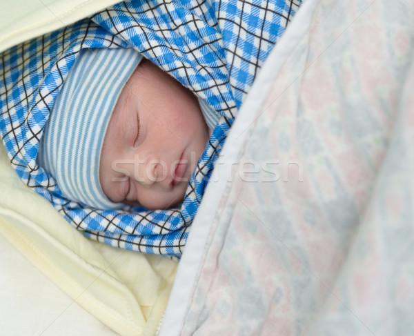 Pasgeboren baby slapen halfbloed zuiden asian Stockfoto © dutourdumonde