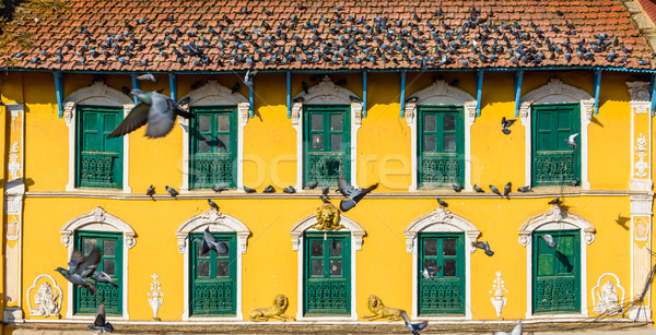 Old Nepalese house in Kathmandu Stock photo © dutourdumonde