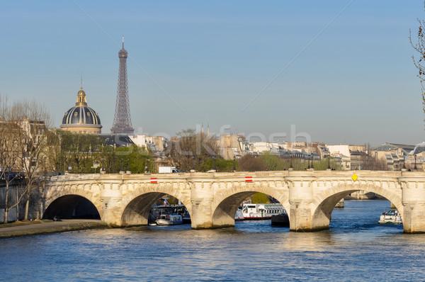 Eiffel Tower París Francia primavera azul horizonte Foto stock © dutourdumonde