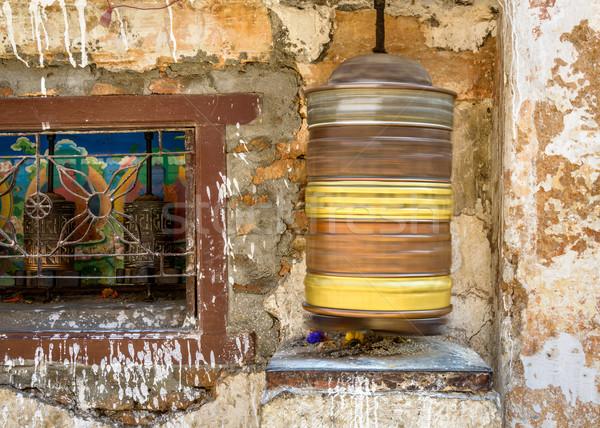 Spinning prayer wheel Stock photo © dutourdumonde