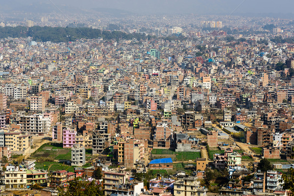 Kathmandu view from Swayambhunath Stock photo © dutourdumonde