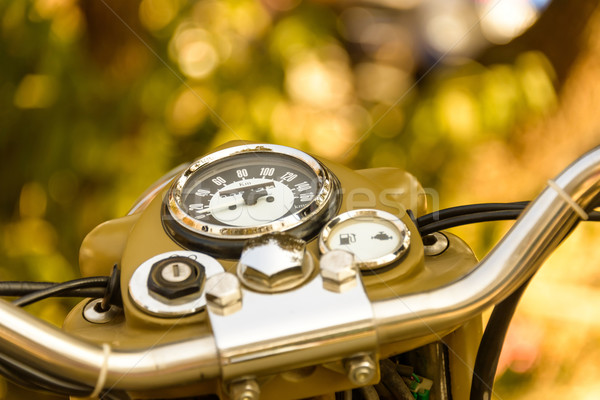 Bağbozumu motosiklet gösterge paneli teknoloji bisiklet Stok fotoğraf © dutourdumonde
