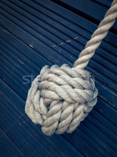 Nautical knot on blue background Stock photo © dutourdumonde
